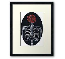 Skeleton Rose Framed Print