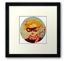 tiny superhero Framed Print