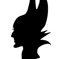 Black Maleficent Silhouette by BethannieeJ