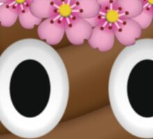 Trendy Poop Emoji Sticker