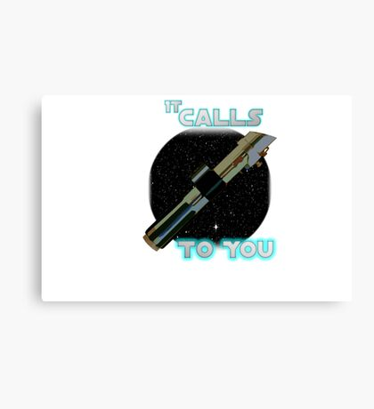 Star Wars VII The Force Lightsaber Canvas Print