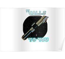 Star Wars VII The Force Lightsaber Poster