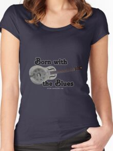 Born with the Blues Women's Fitted Scoop T-Shirt