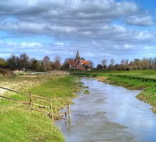 Alfriston Church, Sussex by Avalinart