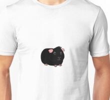 Fluffy Black Guinea Pig Unisex T-Shirt