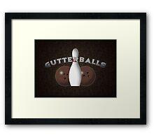 Gutterballs Framed Print