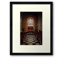 Chapel—St David's Cathedral, Hobart Framed Print