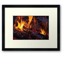 Wood Fire Framed Print