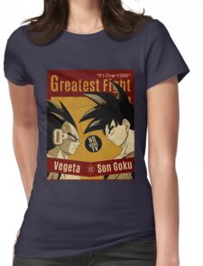 OVER 9000, CLASH VINTAGE 4 Womens Fitted T-Shirt