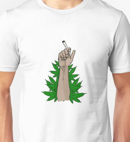 SOME GUY HOLDING A BLUNT IDK Unisex T-Shirt