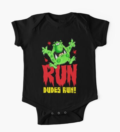 Run Dudes!Save yourselves, Halloween is coming!  One Piece - Short Sleeve