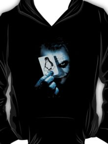 The joker holding linux penguin card T-Shirt