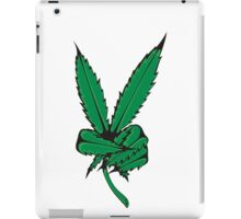 WHAT IS THIS A FUCKING WEED PEACE SIGN iPad Case/Skin