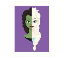 Wicked SnowQueen! Art Print