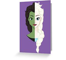 Wicked SnowQueen! Greeting Card