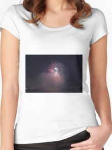 Fireworks competition at night Women's Fitted Scoop T-Shirt