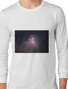 Fireworks competition at night Long Sleeve T-Shirt