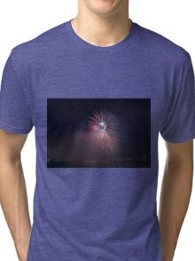 Fireworks competition at night Tri-blend T-Shirt