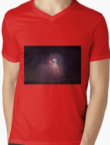 Fireworks competition at night Mens V-Neck T-Shirt