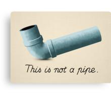 Ceci n'est pas une pipe Canvas Print