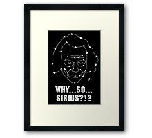 Why So Sirius Joker Card 1 Framed Print