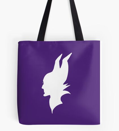 White Maleficent Silhouette Tote Bag
