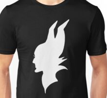 White Maleficent Silhouette Unisex T-Shirt