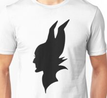 Black Maleficent Silhouette Unisex T-Shirt