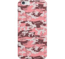 Military Camouflage Pattern - Pink Brown Gray  iPhone Case/Skin