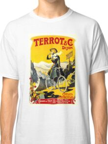TERROT CYCLES; Vintage Bicycle Advertising Print Classic T-Shirt