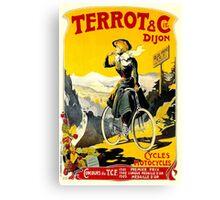 TERROT CYCLES; Vintage Bicycle Advertising Print Canvas Print
