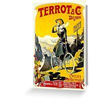 TERROT CYCLES; Vintage Bicycle Advertising Print Greeting Card