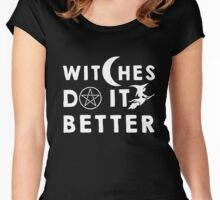 Halloween Shirt - Halloween Shirt - witches do it better  Women's Fitted Scoop T-Shirt