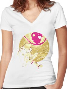 Astronaut TSHIRT Women's Fitted V-Neck T-Shirt