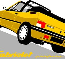 Peugeot 205 Cabriolet yellow by car2oonz