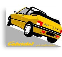 Peugeot 205 Cabriolet yellow Canvas Print