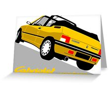 Peugeot 205 Cabriolet yellow Greeting Card
