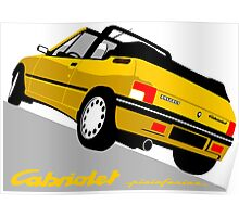 Peugeot 205 Cabriolet yellow Poster