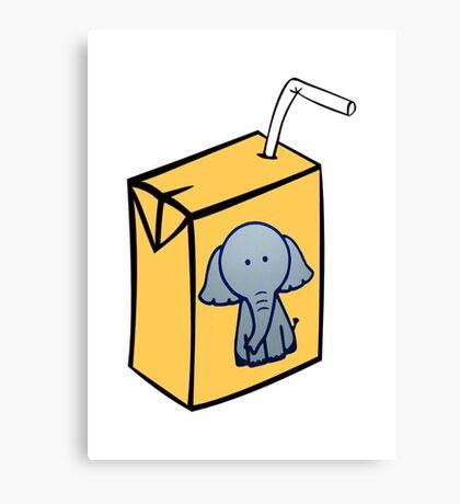 Elephant Juice Canvas Print