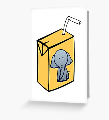 Elephant Juice Greeting Card