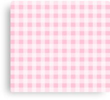 Pink Gingham Checkerboard Pattern Canvas Print