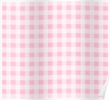 Pink Gingham Checkerboard Pattern Poster