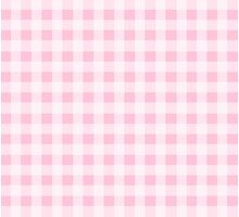 Pink Gingham Checkerboard Pattern Photographic Print