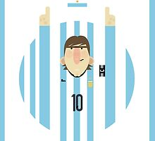 Lionel Messi - Argentina by Gary Ralphs