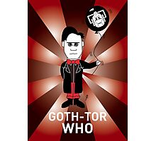 GOTH DR WHO! Photographic Print