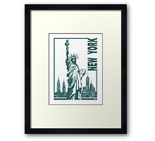 New York-Statue of Liberty  Framed Print