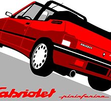 Peugeot 205 Cabriolet red by car2oonz