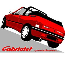 Peugeot 205 Cabriolet red Photographic Print
