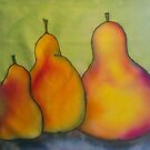 Trio of Pears by Vickie  Scarlett-Fisher