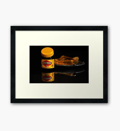 Vegemite And Toast  Framed Print